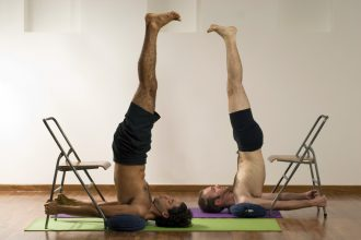 headstand with chair
