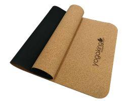 yoga king's cork mixed natural rubber yoga mat