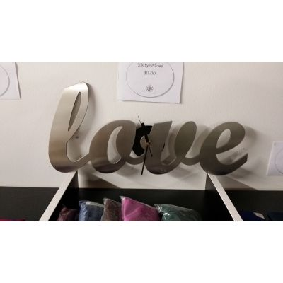 Stainless Steel Love Clock