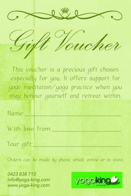 Yoga King Gift Voucher