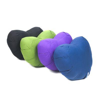 Crescent Meditation Cushion - Organic Cotton, Kapok Fill